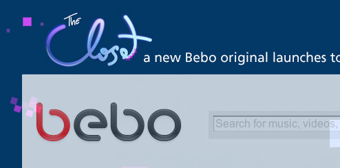 The Closet Web Show - Bebo Homepage Takeover