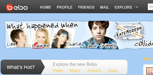 KateModern and BBC Radio 1 - Bebo Homepage Takeover