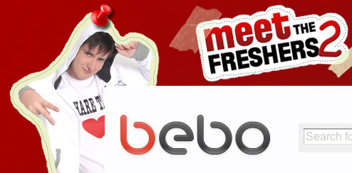 Meet The Freshers - Bebo Homepage Takeover