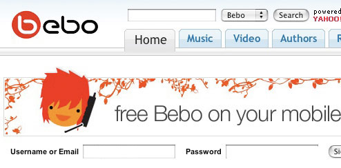 Orange UK - Bebo Homepage Takeover