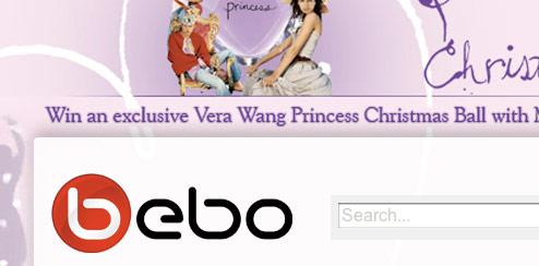 Vera Wang Princess - Bebo Profile Skin