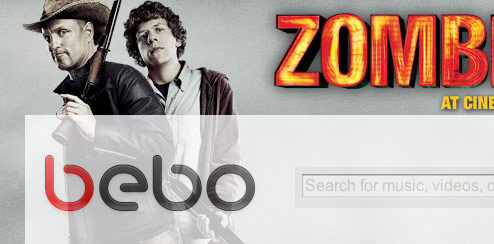 Zombieland - Bebo Homepage Takeover