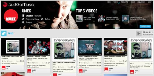 JustGo Music - UI Site Design