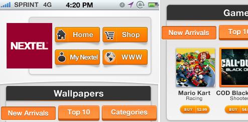 Nii Holdings/Nextel Mobile Portal - UX/UI Design