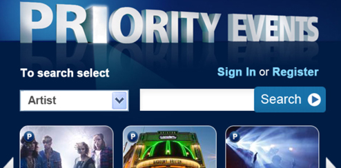 O2 Priority Event - Mobile Portal UI Design